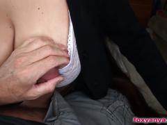 Foxy anya gets her big oiled boobs fucked