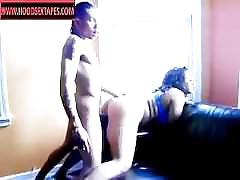 Light skin ni&&a beating that black latin pussy up