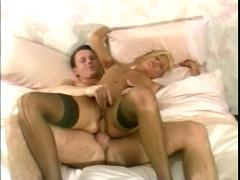 Sharing blonde wife with friends-2