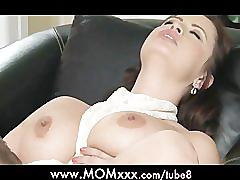 Mom big breasted milf gets fucked