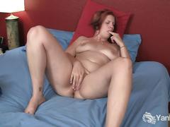 Chubby redhead veronica fingering her shaved twat