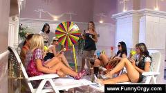 European lesbian fakes an orgasm