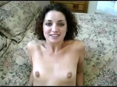 Amateur creampie for brunette