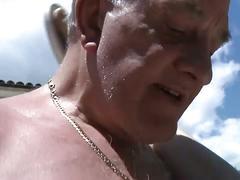 Old dude fucks tina outside