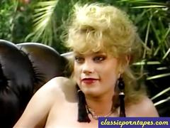 Big tit blonde nailed in classic porn