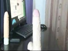 Webcam babe pleases the pussy many times.
