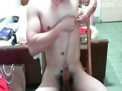 Straight twink strips naked on camera