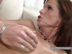 Cougar slut syren de mer pounded hard on her cunt