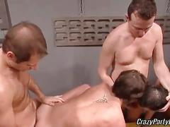 Amateur party studs and jocks fucking in orgy fun.