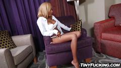 Slutty black teen fucks her dads best friend