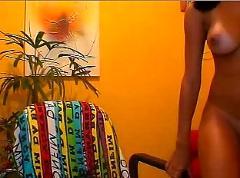Moreninha carioca na webcam