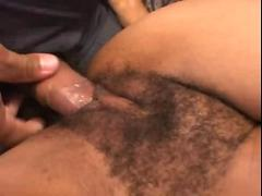 Hot hairy ebony