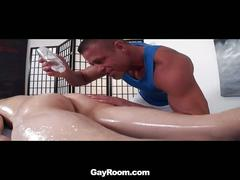 Max carter's ass pumped in hot massage