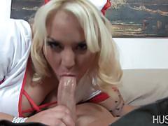 Hustler horny nurse gets her pussy slammed