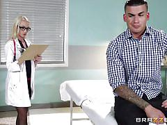 tattoo, handjob, doctor, blowjob, busty, masturbating, blonde babe, doctors office, doctor adventures, brazzers network, clover, madison scott