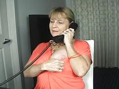 Pantyhose phone caller