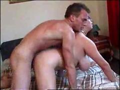 Russian hot housewife fucked by policeofficer