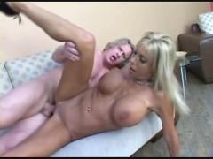 Blonde milf begs for a creampie