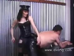 's a lucky slave when mistress kate mandala teaches him submissive short scene