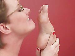 Sheridan tickly foot worship