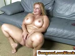 Black cock loving interracial hoe gets a cumshot