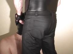 Daddy shadow humiliating a chub straig guy