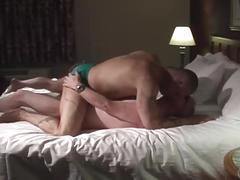 Greasy ass fat daddies fucking hard in cheap motel